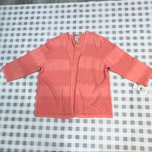 ALFRED DUNNER NWT OPEN PEACH CARDIGAN SIZE 1X